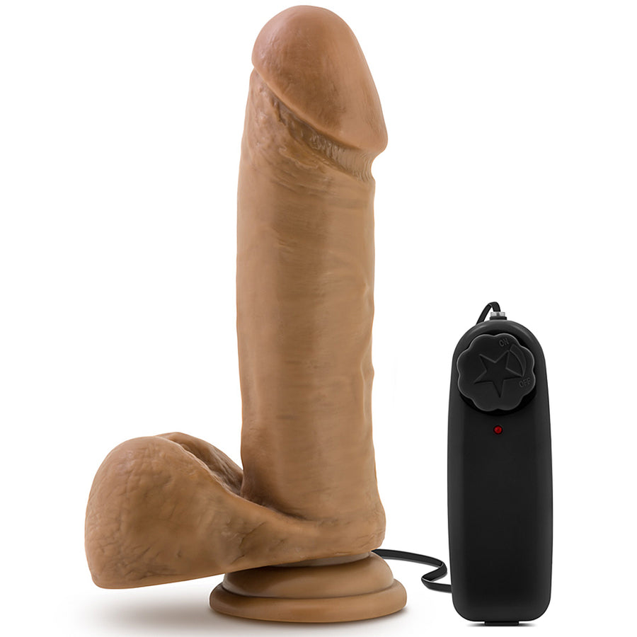 "Blush Novelties - Loverboy Soccer Champ Vibrating Realistic Dildo - 8"" Mocha"