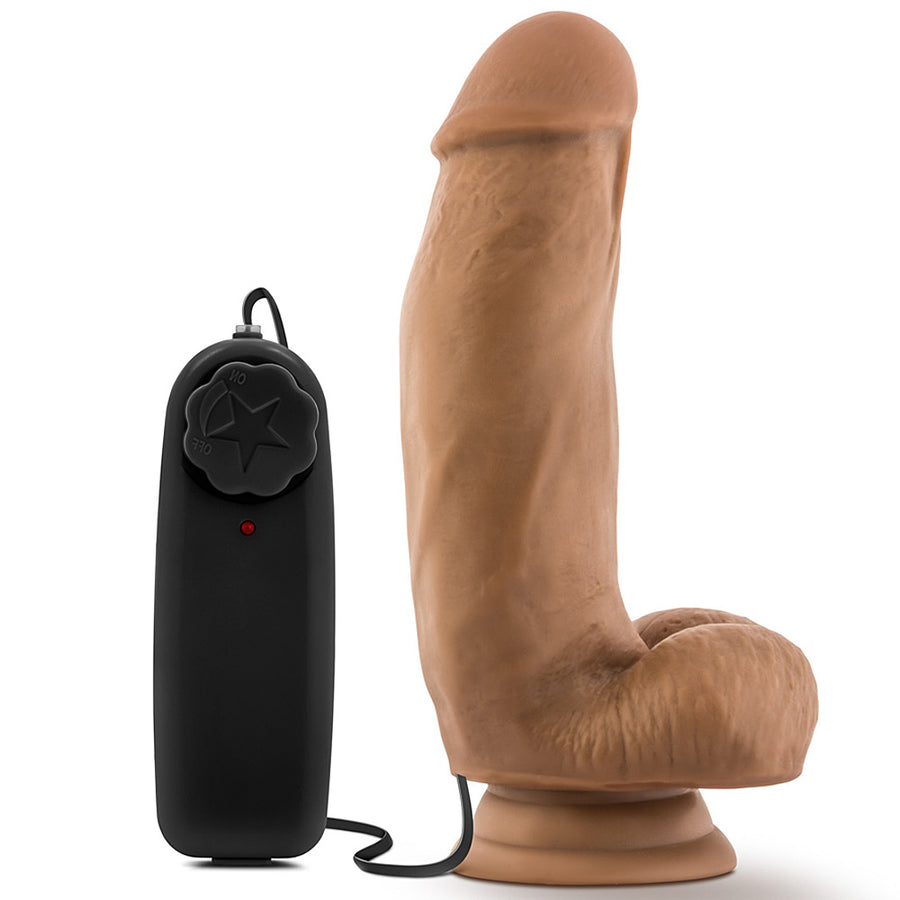 "Blush Novelties - Loverboy MMA Fighter Vibrating Realistic Cock - 7"" Mocha"