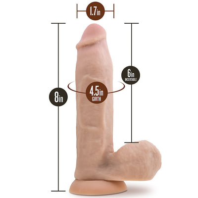 "Blush Novelties - Loverboy Bad The War Hero - 8"" Vanilla"