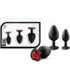Luxe Bling Plugs Training Kit - Black With Red Gems