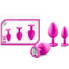 Blush Novelties - Luxe Bling Plugs Training Kit(Pink w/White Gems)