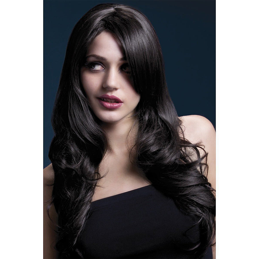 "Nicole Wig Soft Wave & Side Part - 26"" Brown"