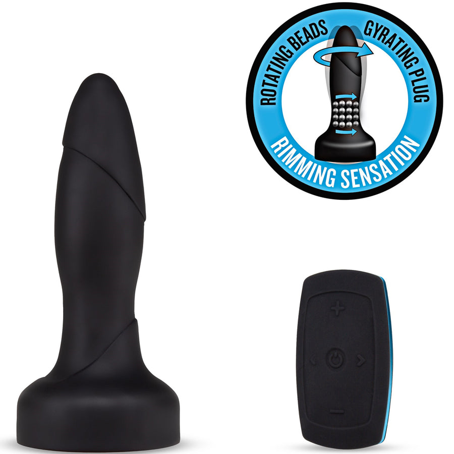 Performance Plus Drive Rimming Wireless Remote Control Rechargeable Butt Plug - Black