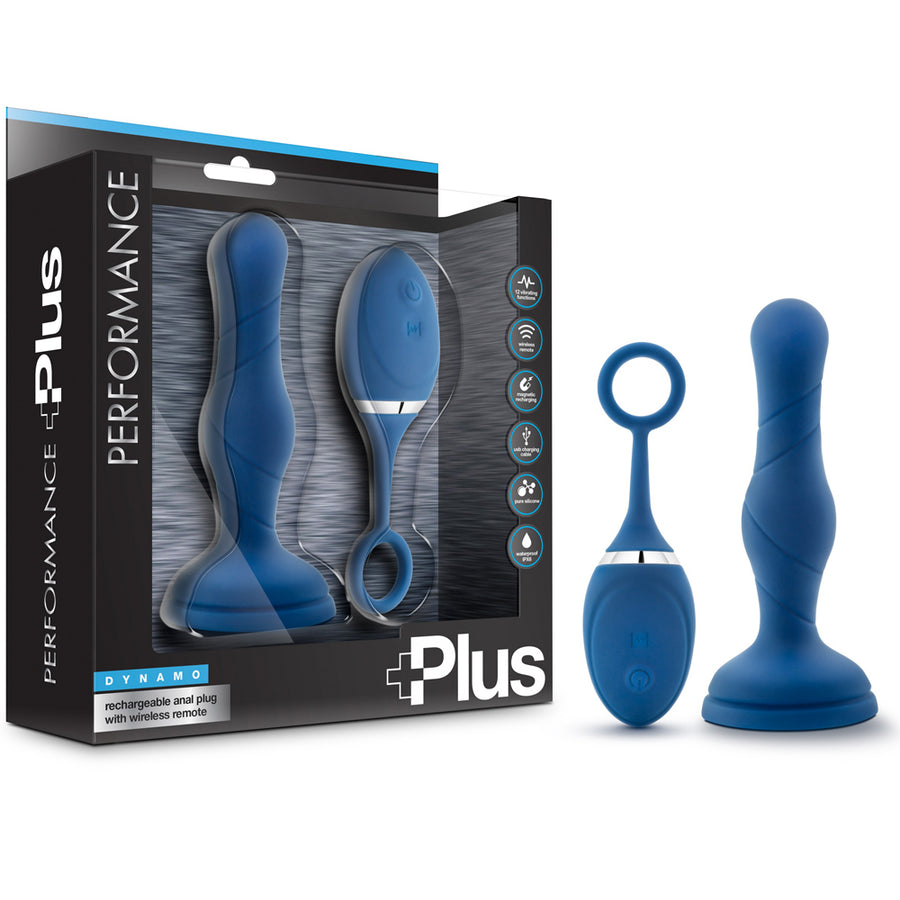 Performance Plus Dynamo Rechargeable Anal Plug - Blue