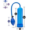 Blush Novelties - Performance 101 Starter Series Pump - Blue