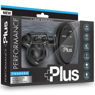 Performance Plus Thunder Remote Vibrating Cock Ring - Black