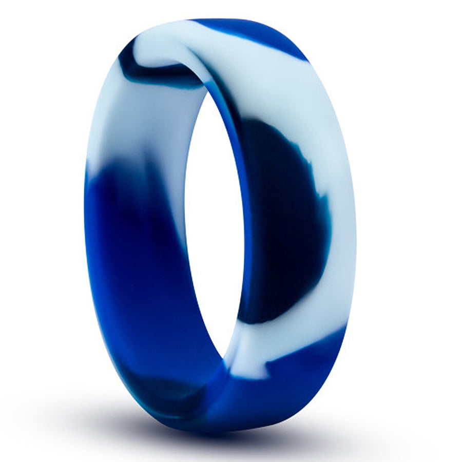 Performance Silicone Go Pro Cock Ring - Blue Camouflage
