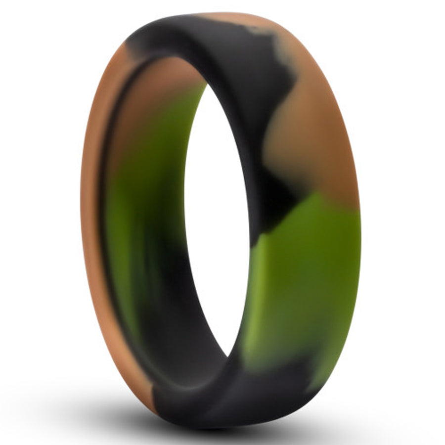 Performance Silicone Go Pro Cock Ring - Green Camouflage