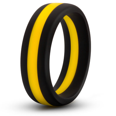 Performance Silicone Go Pro Cock Ring - Black/Gold