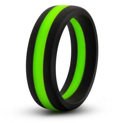 Performance Silicone Go Pro Cock Ring - Black/Green