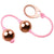 Rocks-Off Golden Love Balls - Rose Gold & Pink