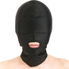 SMVIP Open Mouth Hood with Padded Blindfold - Black