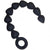 S & M Silicone Anal Beads - Black