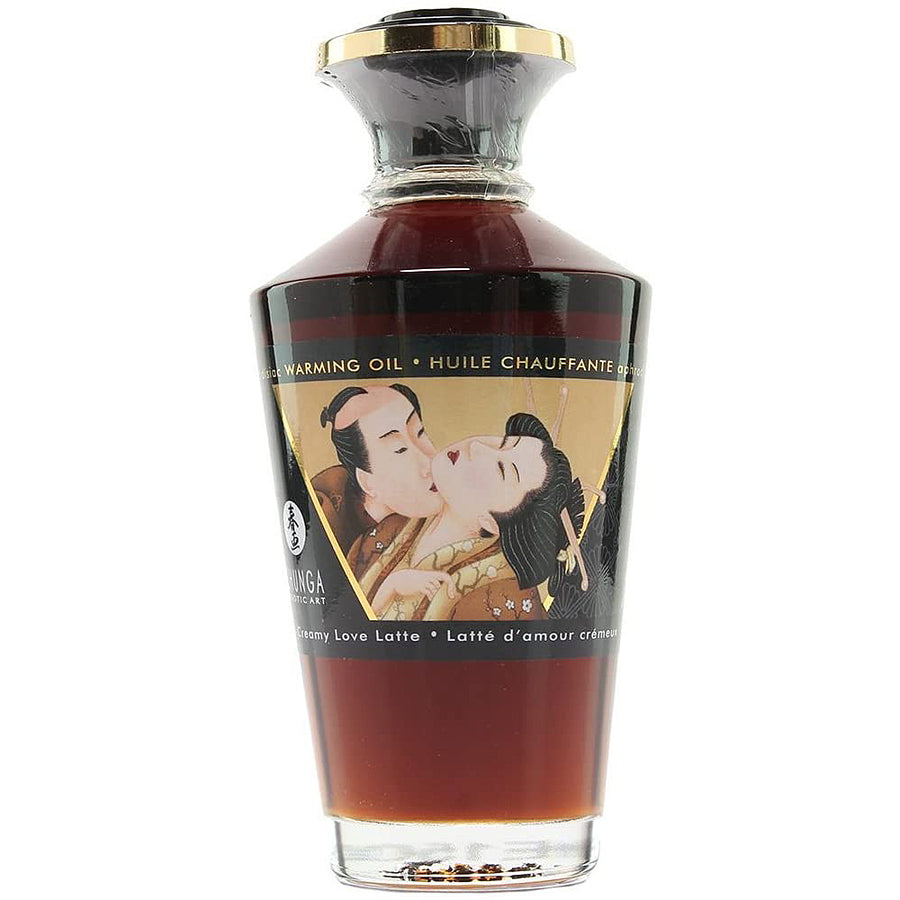 Shunga Aphrodisiac Warming Oil - Creamy Love Latte 3.5oz