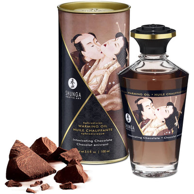 Shunga Aphrodisiac Warming Oil - Intoxicating Chocolate 3.5oz