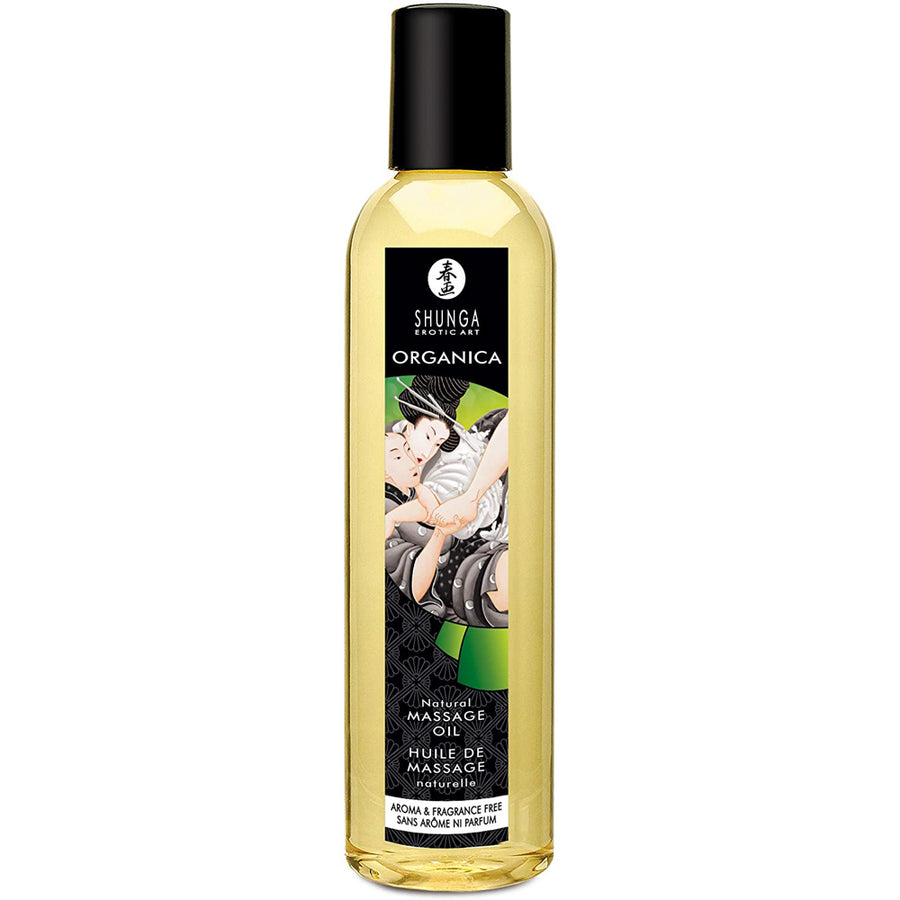 Shunga Organica Kissable Massage Oil - Aroma & Fragrance Free 8oz