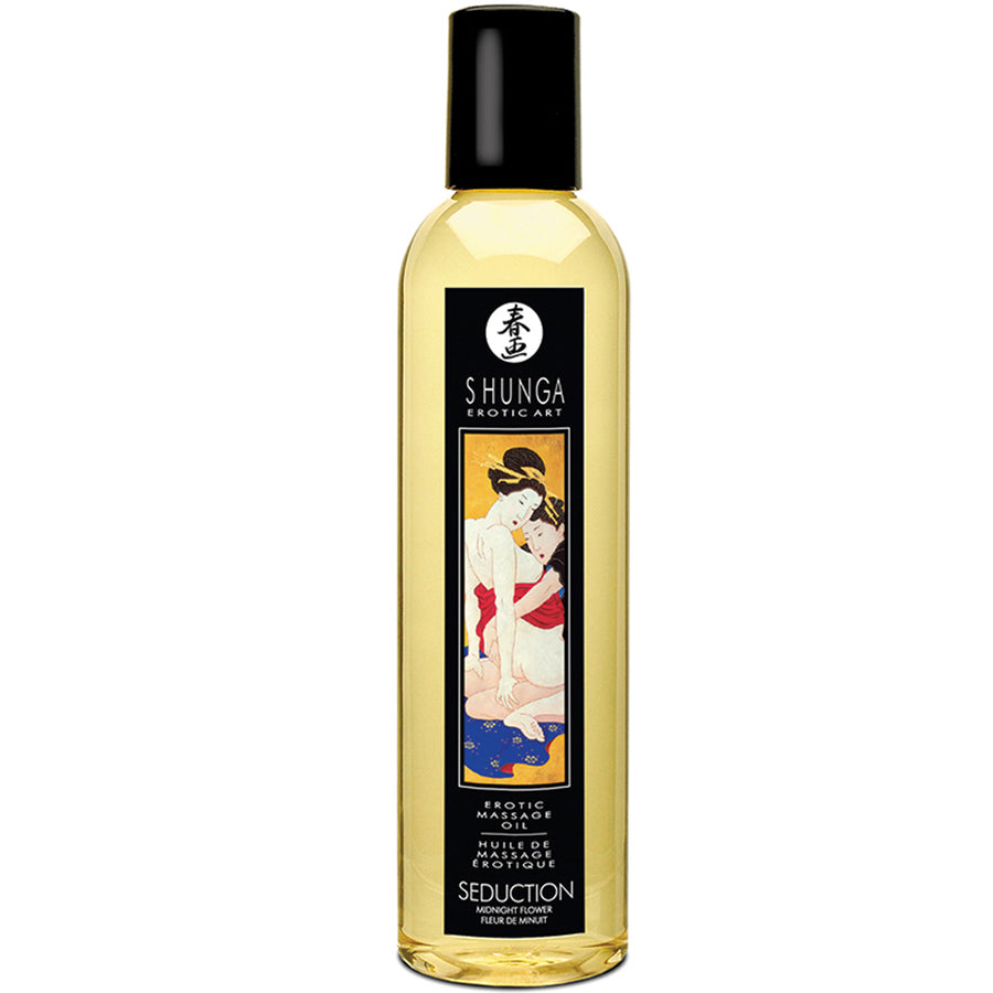 Shunga Erotic Massage Oil - Seduction Midnight Flower 8oz