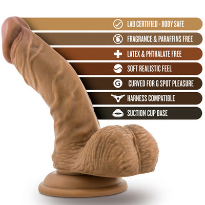 "Blush Novelties - Silicone Willy's Silicone Dildo with Balls - 6.5""  Mocha"