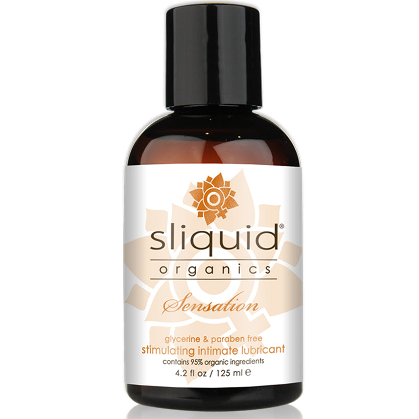 Sliquid Organics Sensations Natural Stimulating Lube 4.2oz - Godfather Adult Sex and Pleasure Toys