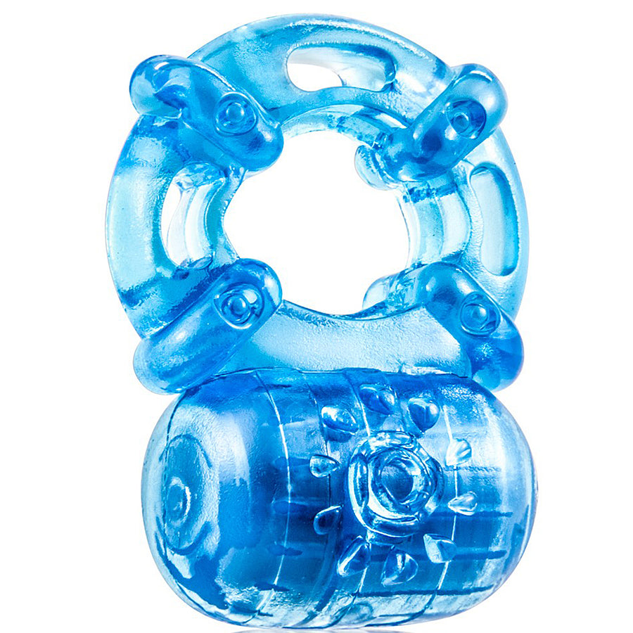 Blush Novelties - Stay Hard Reusable 5 Function Cockring - Blue