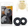 Blush Novelties - Stay Hard Donut Rings Oversized - 2Pk Black