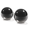 Fetish Fantasy Series Limited Edition Medium Black Glass Ben-Wa Balls - Godfather Adult Sex and Pleasure Toys