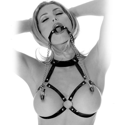 Fetish Fantasy Series Limited Edition O-Ring Gag & Nipple Clamps - Godfather Adult Sex and Pleasure Toys