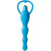 Climax Silicone Vibrating Bum Beads - Blue - Godfather Adult Sex and Pleasure Toys