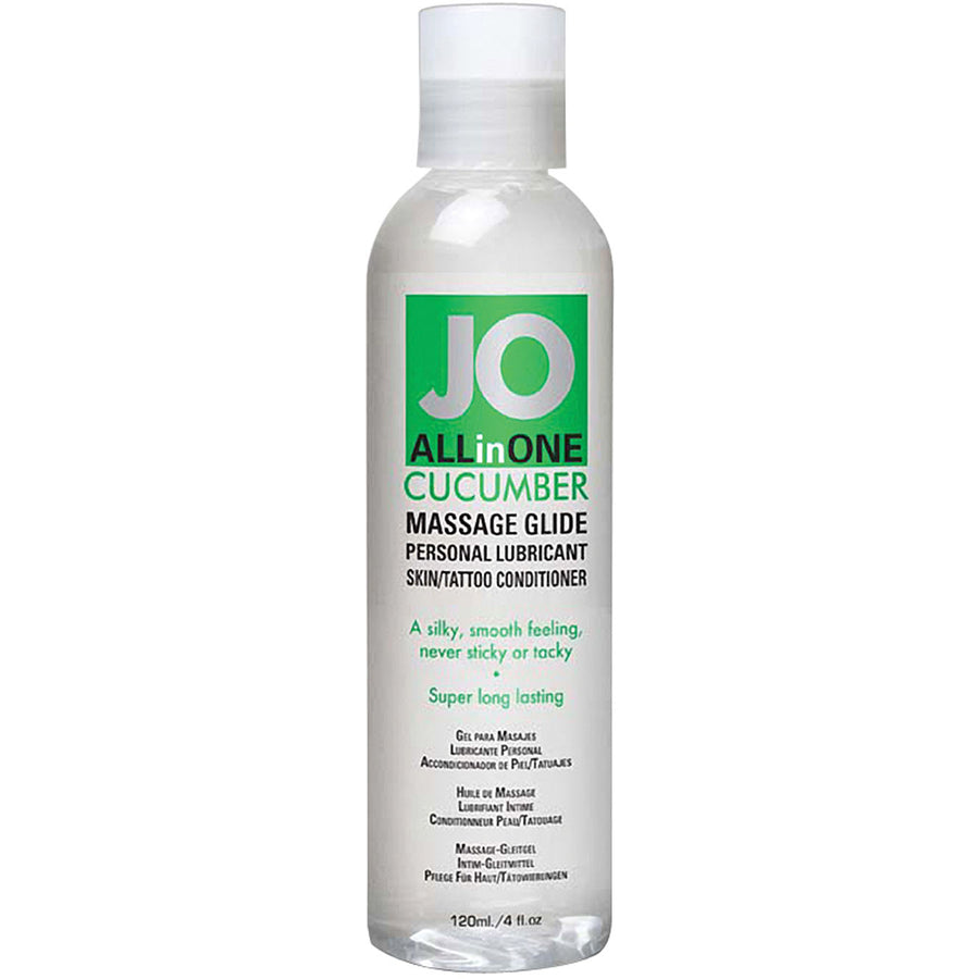 JO All In One Massage Glide-Cucumber 4oz - Godfather Adult Sex and Pleasure Toys