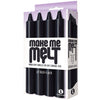The 9'S, Make Me Melt Drip Candles-Jet Black (4 Pack) - Godfather Adult Sex and Pleasure Toys