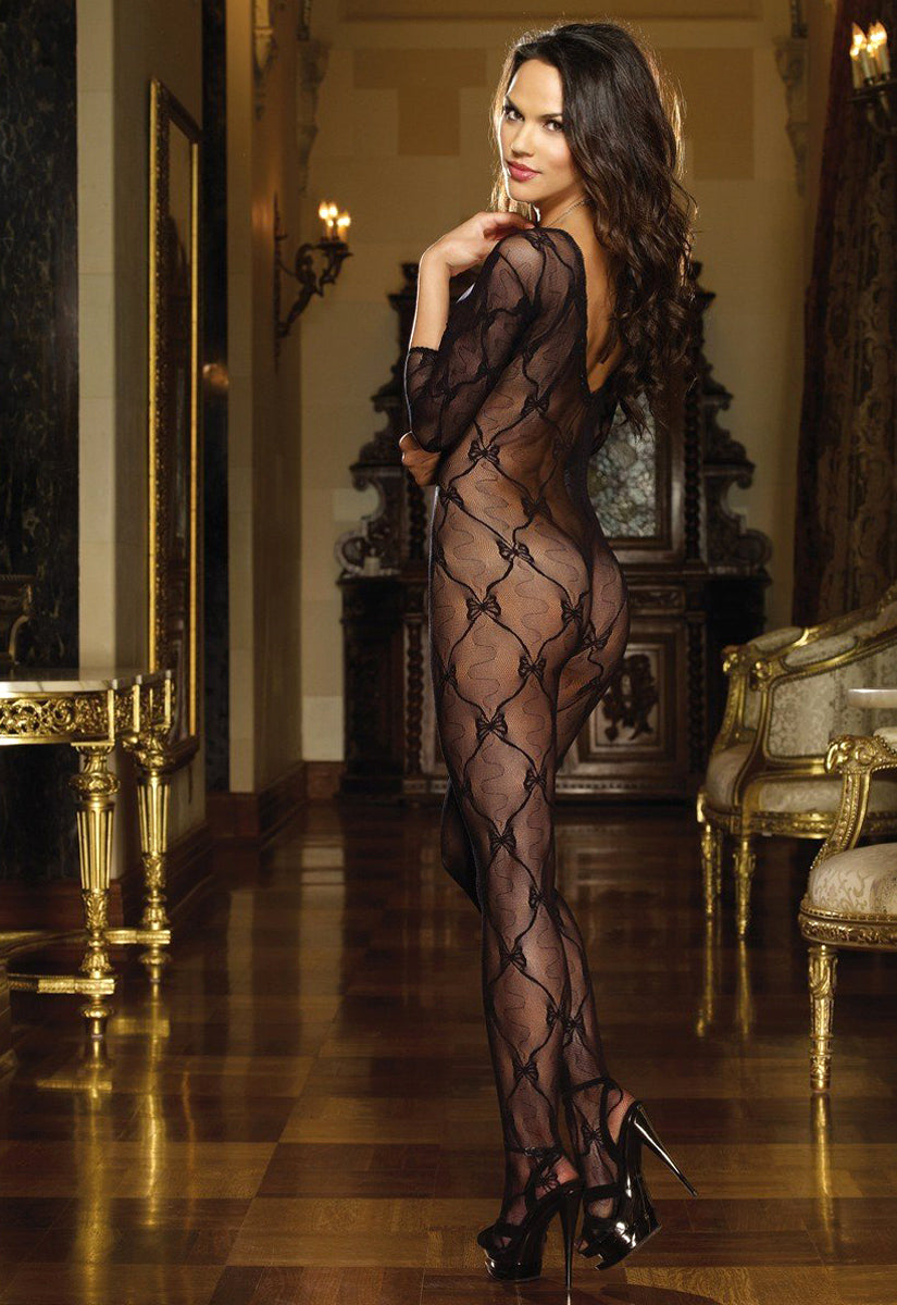 Lace Long Sleeved Body Stocking