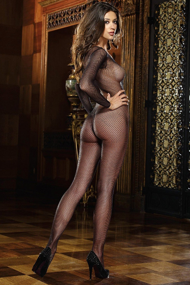 Fishnet Long Sleeve Body Stocking