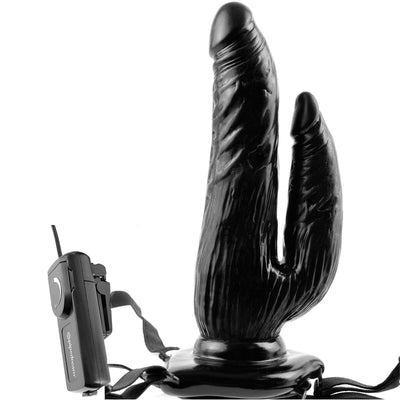 Fetish Fantasy Series Vibrating Dual Penetrator - Black - Godfather Adult Sex and Pleasure Toys