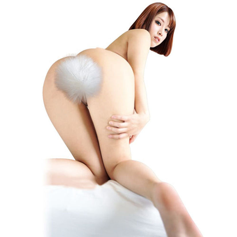 Furry Bunny Tail Vibrating Butt Plug - Godfather Adult Sex and Pleasure Toys