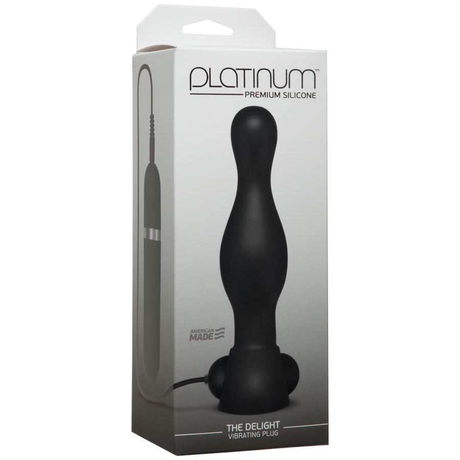 Platinum – The Delight Vibrating Plug – Black
