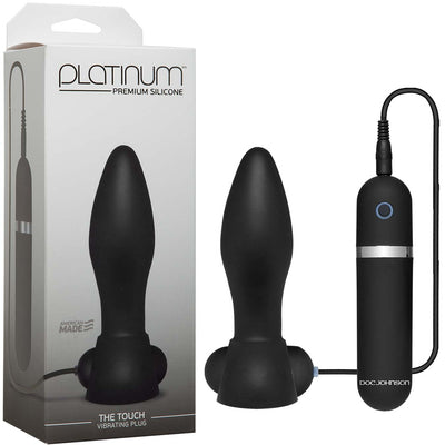 Platinum The Touch Vibrating Plug – Black - Godfather Adult Sex and Pleasure Toys