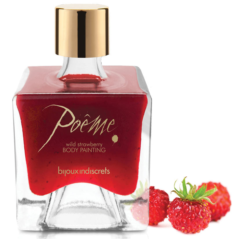 Bijoux Poeme Body Painting-Wild Strawberry - Godfather Adult Sex and Pleasure Toys