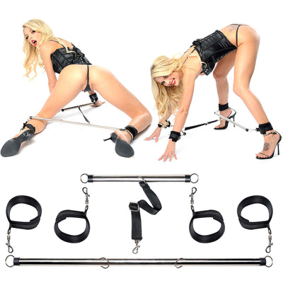 Fetish Fantasy Series Spread 'em Bar and Cuff Set - Godfather Adult Sex and Pleasure Toys