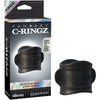 Fantasy C-Ringz Silicone Ball Stretcher Black - Godfather Adult Sex and Pleasure Toys
