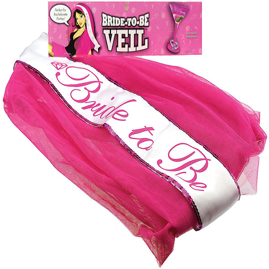 Bride-to-Be Veil - Pink - Godfather Adult Sex and Pleasure Toys