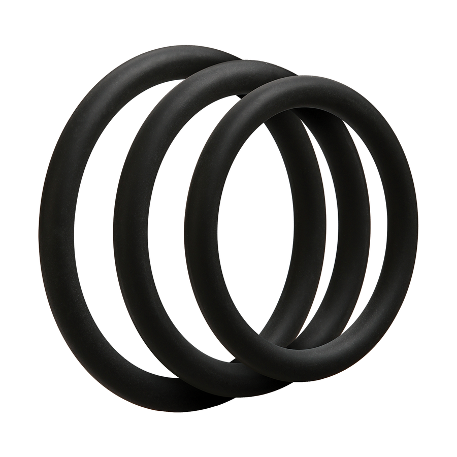 OPTIMALE 3 C-Ring Set Thin - Black - Godfather Adult Sex and Pleasure Toys