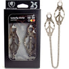 Spartacus Butterfly Clamp With Link Chain - Silver - Godfather Adult Sex and Pleasure Toys