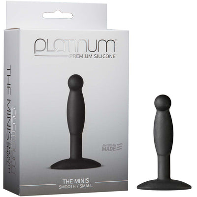 Platinum Premium Silicone - The Mini's - Smooth Small - Black - Godfather Adult Sex and Pleasure Toys