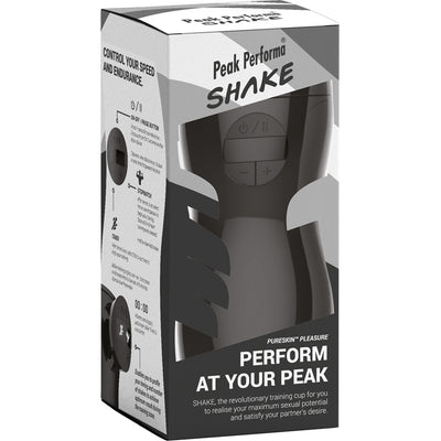 SHAKE Stamina Training Cup-Pleasure (Black) - Godfather Adult Sex and Pleasure Toys