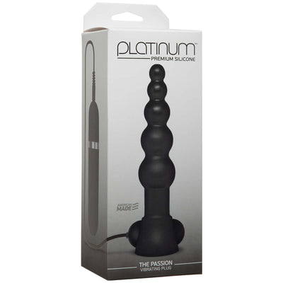 Platinum – The Passion Vibrating Plug – Black - Godfather Adult Sex and Pleasure Toys