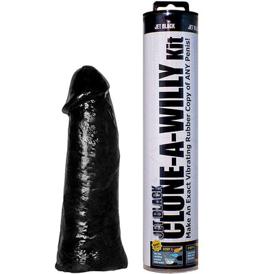 Clone-A-Willy Vibe Kit-Jet Black - Godfather Adult Sex and Pleasure Toys