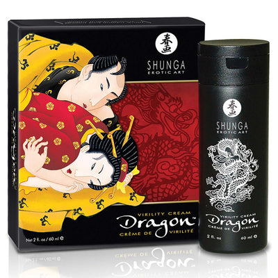 Shunga Dragon Virility Cream-Strawberry Mint 2oz - Godfather Adult Sex and Pleasure Toys