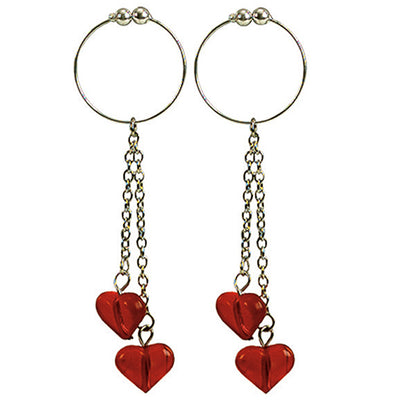 Asian Hearts Nipple Rings - Godfather Adult Sex and Pleasure Toys