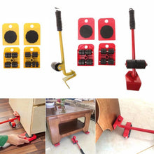 Load image into Gallery viewer, Furniture Mover Tool Set 4 Wheeled Mover Roller+1 Wheel Bar
