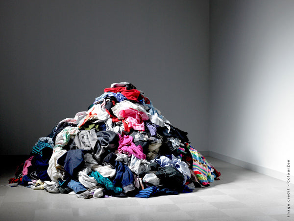pile of clothes to recycle